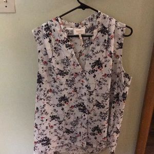 Floral printed tank top blouse